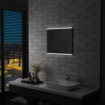 Kupaonsko LED zidno ogledalo sa senzorom na dodir 60 x 50 cm