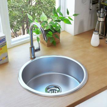 Kuhinjski sudoper s cjedilom i sifonom od nehrđajućeg čelika