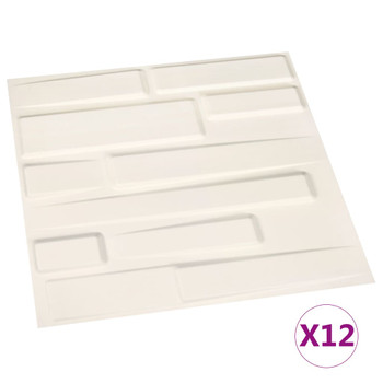 Zidni paneli 3D 12 kom 0,5 x 0,5 m 3 m²
