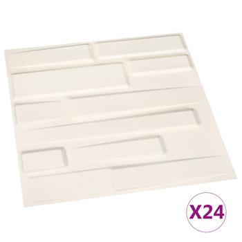 Zidni paneli 3D 24 kom 0,5 x 0,5 m 6 m²