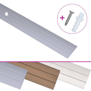 Podni profili 5 kom aluminijski 90 cm srebrni