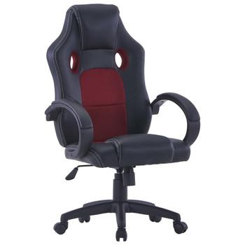 Igraća stolica od umjetne kože crvena boja vina