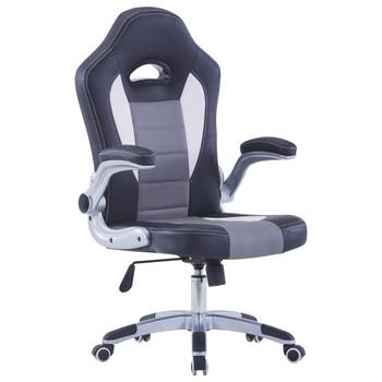 Igraća stolica od umjetne kože crna