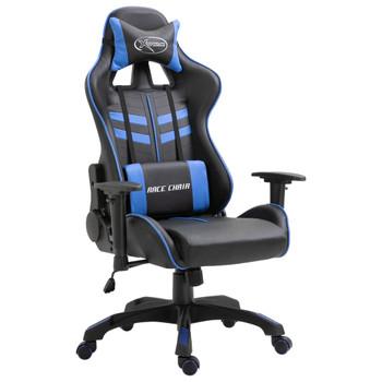Igraća stolica od umjetne kože plava