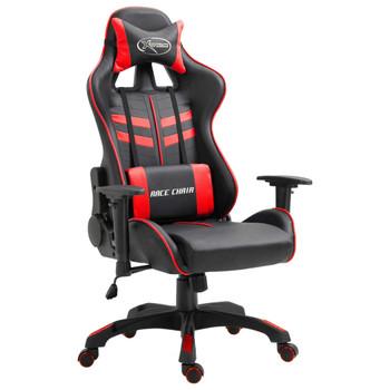 Igraća stolica od umjetne kože crvena