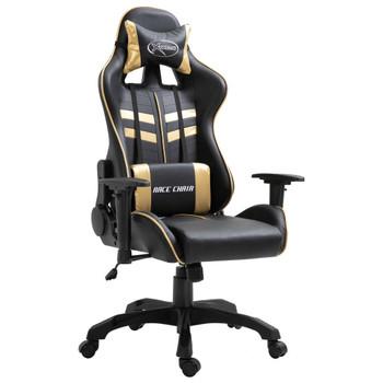 Igraća stolica od umjetne kože zlatna