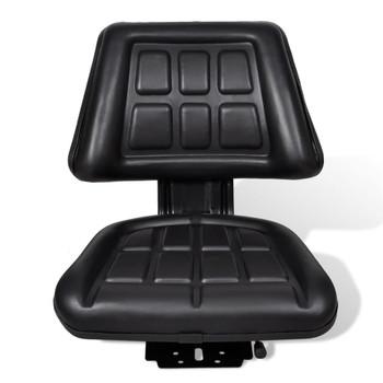 Traktorsko Sjedalo s Naslonom Crno