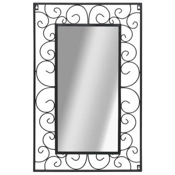 Zidno ogledalo pravokutno 50 x 80 cm crno