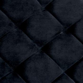 Klupa od crne baršunaste tkanine i nehrđajućeg čelika 97 cm