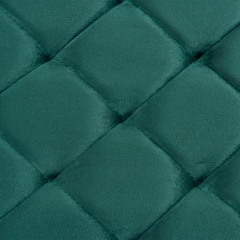 Klupa od zelene baršunaste tkanine i nehrđajućeg čelika 97 cm