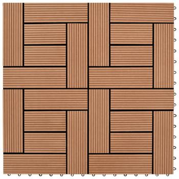 Pločice za trijem 22 kom 30 x 30 cm 2 m² WPC smeđe