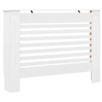 Pokrov za radijator bijeli 112 x 19 x 81,5 cm MDF