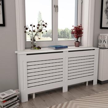 Pokrov za radijator bijeli 172 x 19 x 81,5 cm MDF