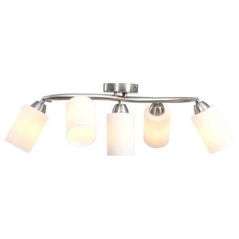 Stropna svjetiljka s keramičkim sjenilima 5 žarulja E14 bijela