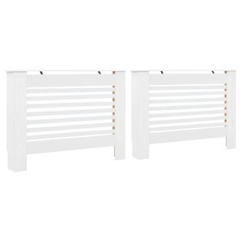 Pokrovi za radijator 2 kom bijeli 112 x 19 x 81,5 cm MDF