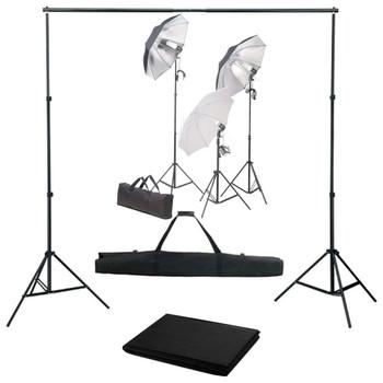 Oprema za fotografski studio sa setom svjetiljki i pozadinom
