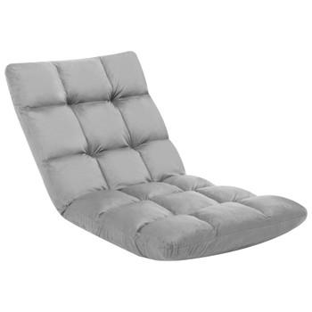 Sklopiva podna stolica od mikrovlakana svjetlosiva
