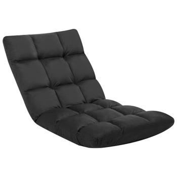 Sklopiva podna stolica od mikrovlakana crna