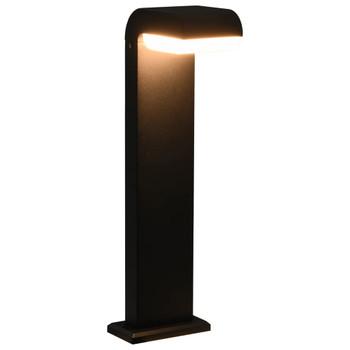 Vrtna LED svjetiljka 9 W crna ovalna