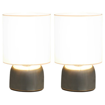 Stolne svjetiljke 2 kom s gumbom na dodir bijele E14