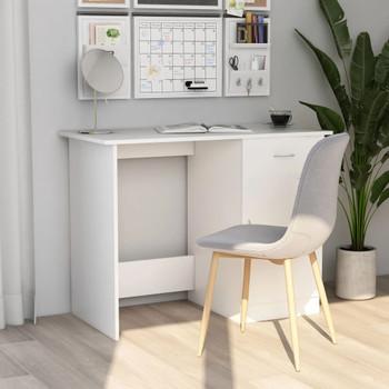Radni stol bijeli 100 x 50 x 76 cm od iverice