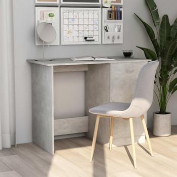 Radni stol siva boja betona 100 x 50 x 76 cm od iverice