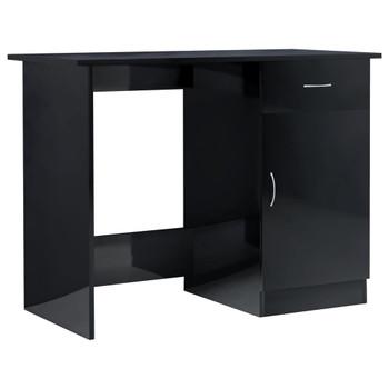 Radni stol visoki sjaj crni 100 x 50 x 76 cm od iverice