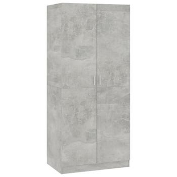 Ormar siva boja betona 80 x 52 x 180 cm od iverice