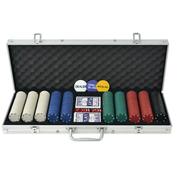 Set za Poker s 500 Žetona Aluminijum