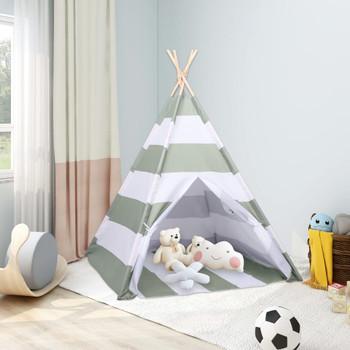 vidaXL Dječji šator tipi od breskvine kore prugasti 120 x 120 x 150 cm