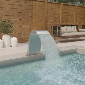 vidaXL Fontana za bazen 50 x 30 x 60 cm od nehrđajućeg čelika 304
