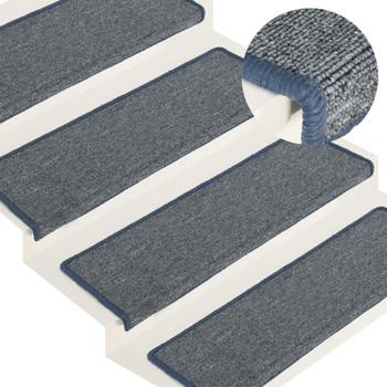 vidaXL Tepisi za stepenice 15 kom 65 x 25 cm ljubičasto-plavi