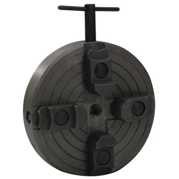 vidaXL Stezna glava za drvo 4 čeljusti spoj M18 čelična crna 150x63 mm