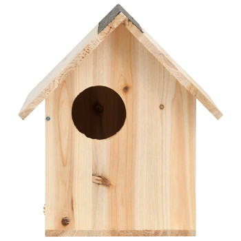 vidaXL Kućica za vjeverice od masivne jelovine 26 x 25 x 29 cm