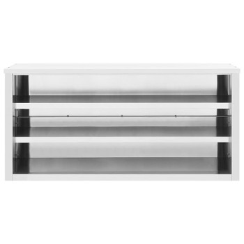 vidaXL Kuhinjski zidni ormarić 150 x 40 x 75 cm od nehrđajućeg čelika