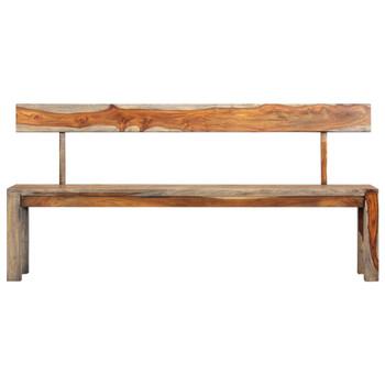 vidaXL Klupa od masivnog drva šišama 160 cm siva
