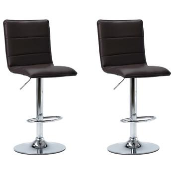 vidaXL Barske stolice od umjetne kože 2 kom smeđe