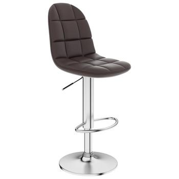 vidaXL Barski stolac od umjetne kože smeđi
