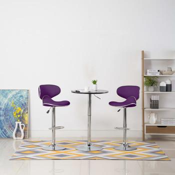 vidaXL Barski stolci od umjetne kože 2 kom ljubičasti