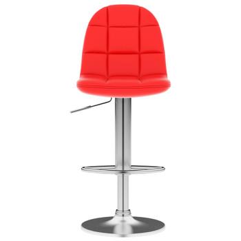 vidaXL Barski stolac od umjetne kože crveni