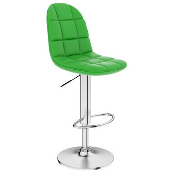 vidaXL Barski stolac od umjetne kože zeleni