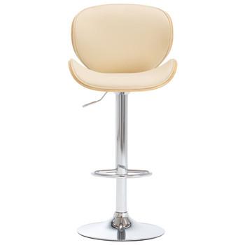 vidaXL Barski stolac od umjetne kože krem