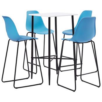 vidaXL 5-dijelni barski set plastični plavi