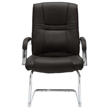 vidaXL Konzolna uredska stolica od umjetne kože crna