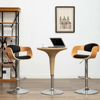 vidaXL Barski stolci od savijenog drva i umjetne kože 2 kom crni
