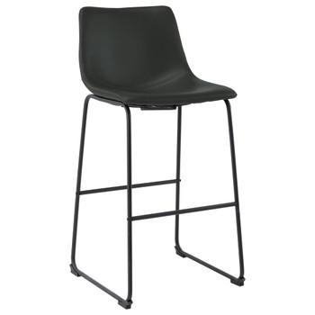vidaXL Barski stolac od umjetne kože sivi