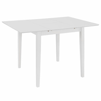 vidaXL Produživi blagovaonski stol bijeli (80 - 120) x 80 x 74 cm MDF