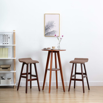 vidaXL Barske stolice od tkanine 2 kom smeđe-sive