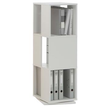 FMD rotirajući otvoreni ormarić za spise 34 x 34 x 108 cm bijeli