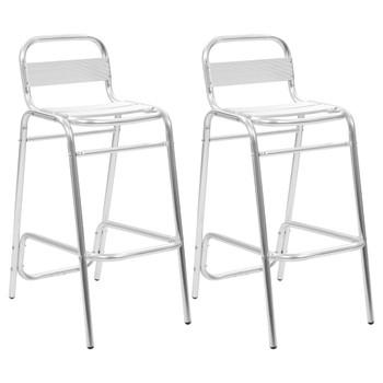 vidaXL Složive barske stolice 2 kom aluminijske